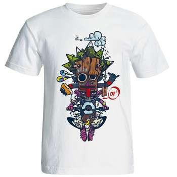 تی شرت طرح فانتزی مدل w156
