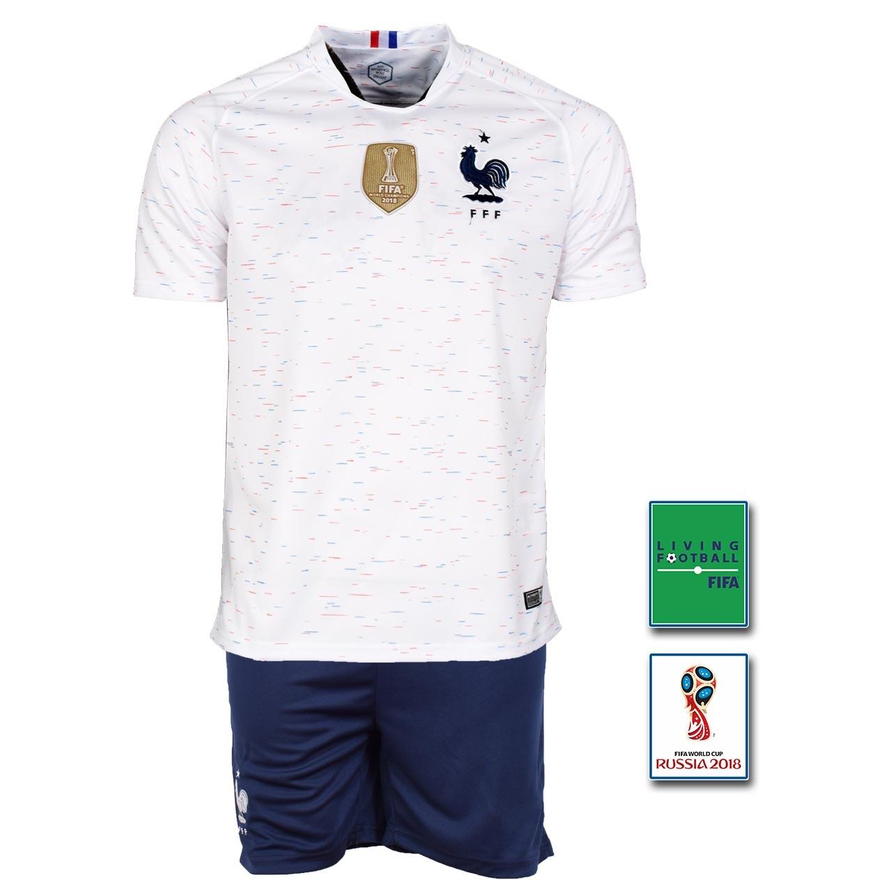 پیراهن شورت طرح گریژمان مدل فرانسه Away2018 به همراه تگ