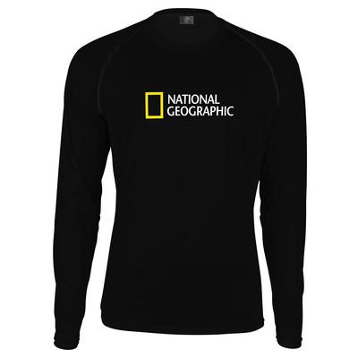 تصویر تی شرت آستین بلند پاتیلوک طرح نشنال جئوگرافیک مدل 330323