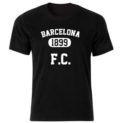 تصویر تی شرت آستین کوتاه مردانه طرح بارسلونا کد BW1508