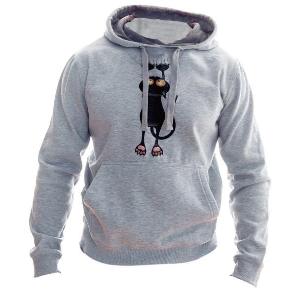 هودی مردانه به رسم طرح گربه کد 156