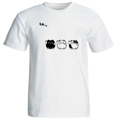 تی شرت زنانه طرح گربه کد 12691