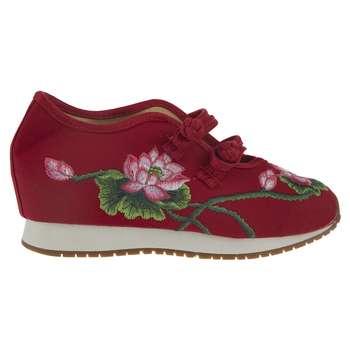 کفش دخترانه طرح رز قرمز