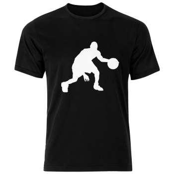 تی شرت ورزشی نخی مردانه فلوریزا طرح بازیکن بسکتبال کد Basketball 001M تیشرت