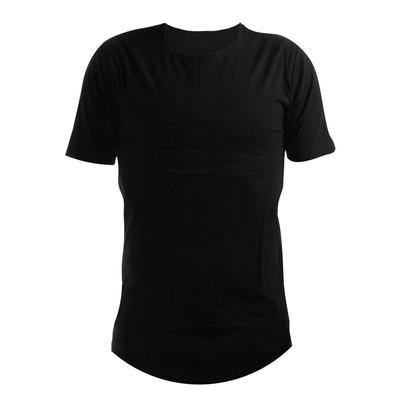 تصویر تیشرت مردانه ساده رنگ مشکی مدل black-002
