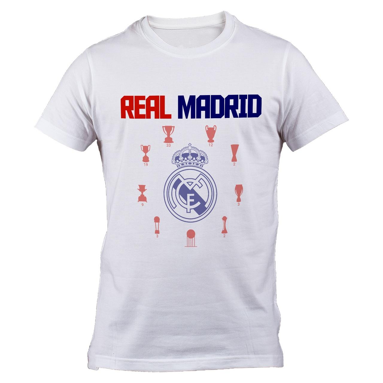 تی شرت مردانه طرح رئال مادرید cup B 77041