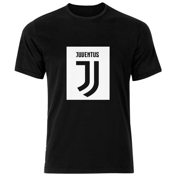 تی شرت ورزشی نخی مردانه طرح لوگو یوونتوس کد Juventus Clubs Logo 001M تیشرت