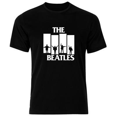 تصویر تی شرت نخی مردانه فلوریزا طرح گروه موسیقی بیتلز کد Beatels 002M تیشرت