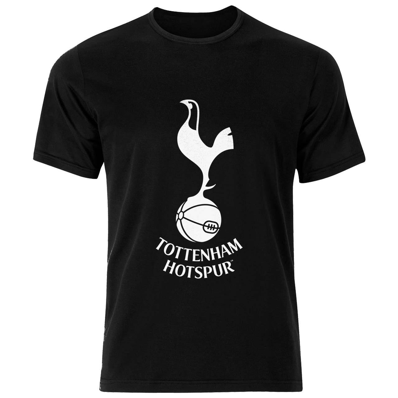 تی شرت ورزشی نخی مردانه فلوریزا طرح تاتنهام هاتسپر کد Tottenham Clubs Logo 001M تیشرت