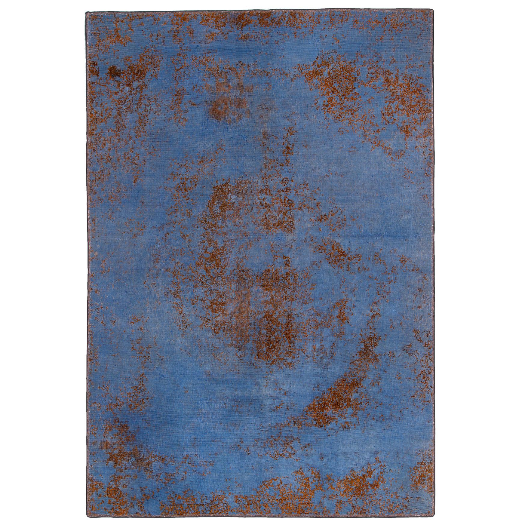 فرش دستباف رنگ شده  پنج متری حیدریان کد 62701