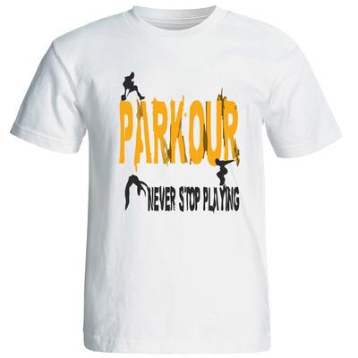 تصویر تی شرت آستین کوتاه مردانه طرح پارکور کد 1513