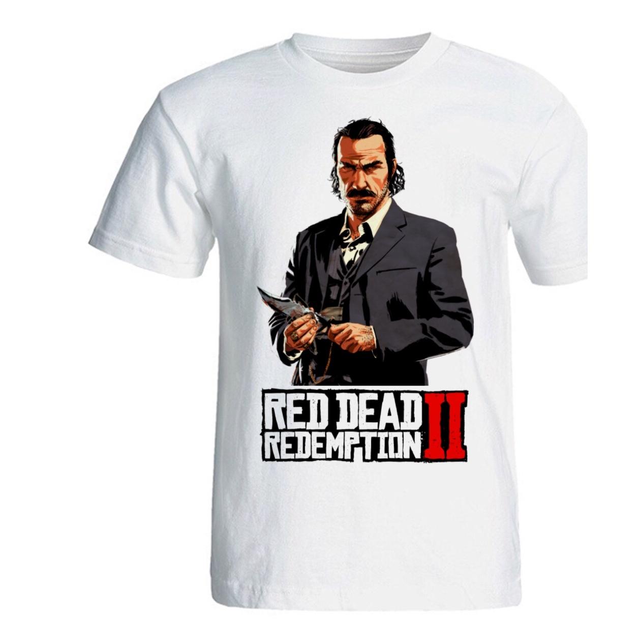 تصویر تی شرت مردانه سالامین طرح Red Dead Redemption 2 کد SA202