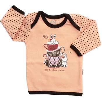 تی شرت نوزادی آدمک مدل فنجان وخرگوش