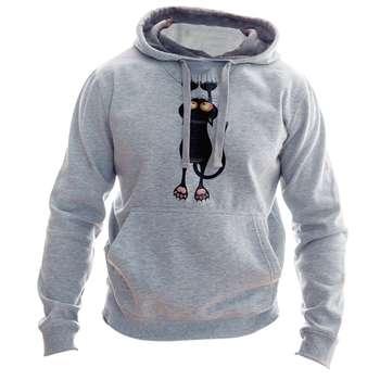 هودی زنانه به رسم طرح گربه کد 156
