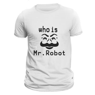 تصویر تیشرت مردانه آستین کوتاه کد 13411 طرح آقای روبات – مستر ربوت – هکر – ربات