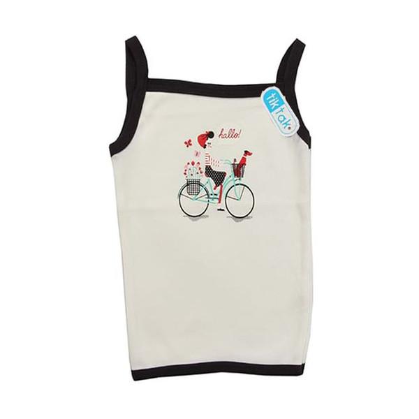 رکابی نوزادی تیک تاک طرح دوچرخه خالدار