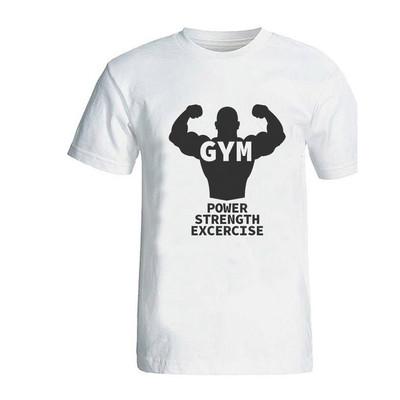 تی شرت مردانه طرح بدنسازی مدل gym