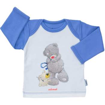 تی شرت نوزادی پسرانه آدمک طرح خرس پشمالو