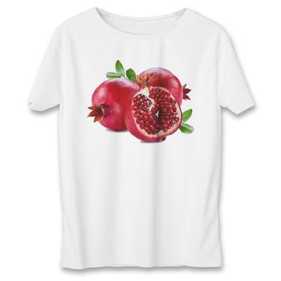 تصویر تی شرت زنانه طرح انار یلدا کد 591