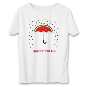 تي شرت زنانه طرح چتر یلدا کد 592