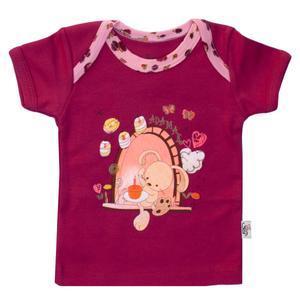 تی شرت نوزادی آدمک مدل طرح خرگوش و پروانه 01