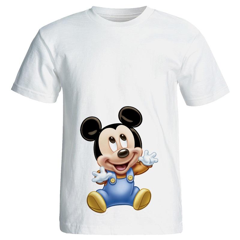 تی شرت زنانه طرح بارداری میکی موس کد 3940