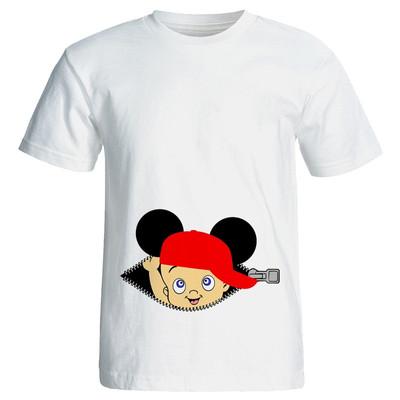 تی شرت زنانه طرح بارداری boy کد 3954