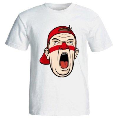 تصویر تی شرت مردانه طرح هواداری تیم فوتبال ایران کد 3548 رنگ قرمز