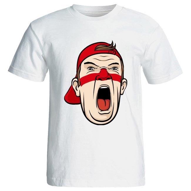 تی شرت مردانه طرح هواداری تیم فوتبال ایران کد 3548 رنگ قرمز