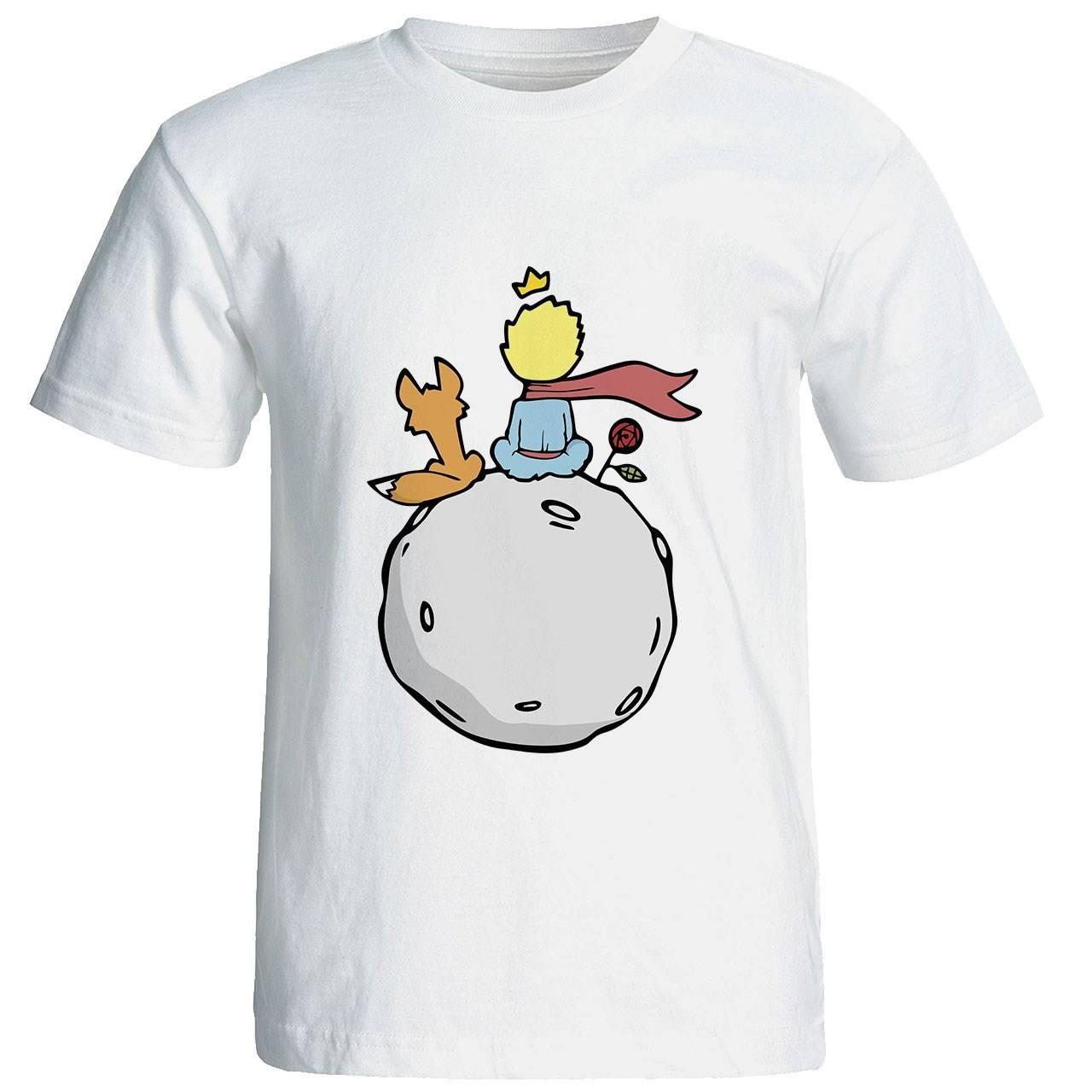 تی شرت آستین کوتاه زنانه طرح شازده کوچولو کد 4138
