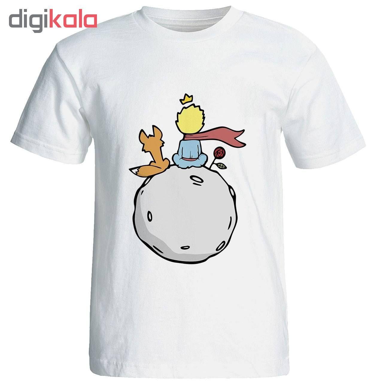 تی شرت آستین کوتاه زنانه طرح شازده کوچولو کد 4138 main 1 1