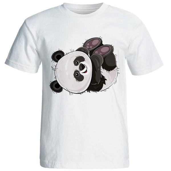 تی شرت آستین کوتاه زنانه طرح پاندا کد 4177