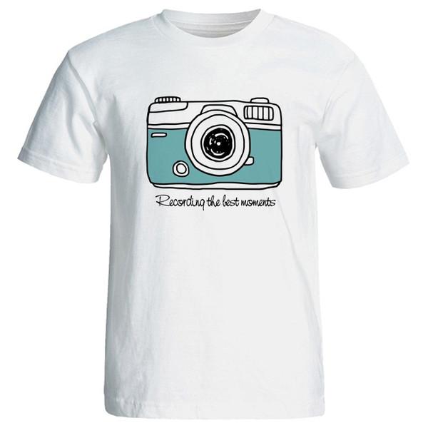 تی شرت آستین کوتاه زنانه طرح دوربین کد 4175