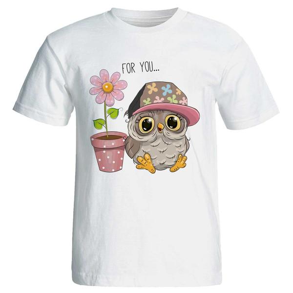 تی شرت آستین کوتاه زنانه طرح for you... کد 3739