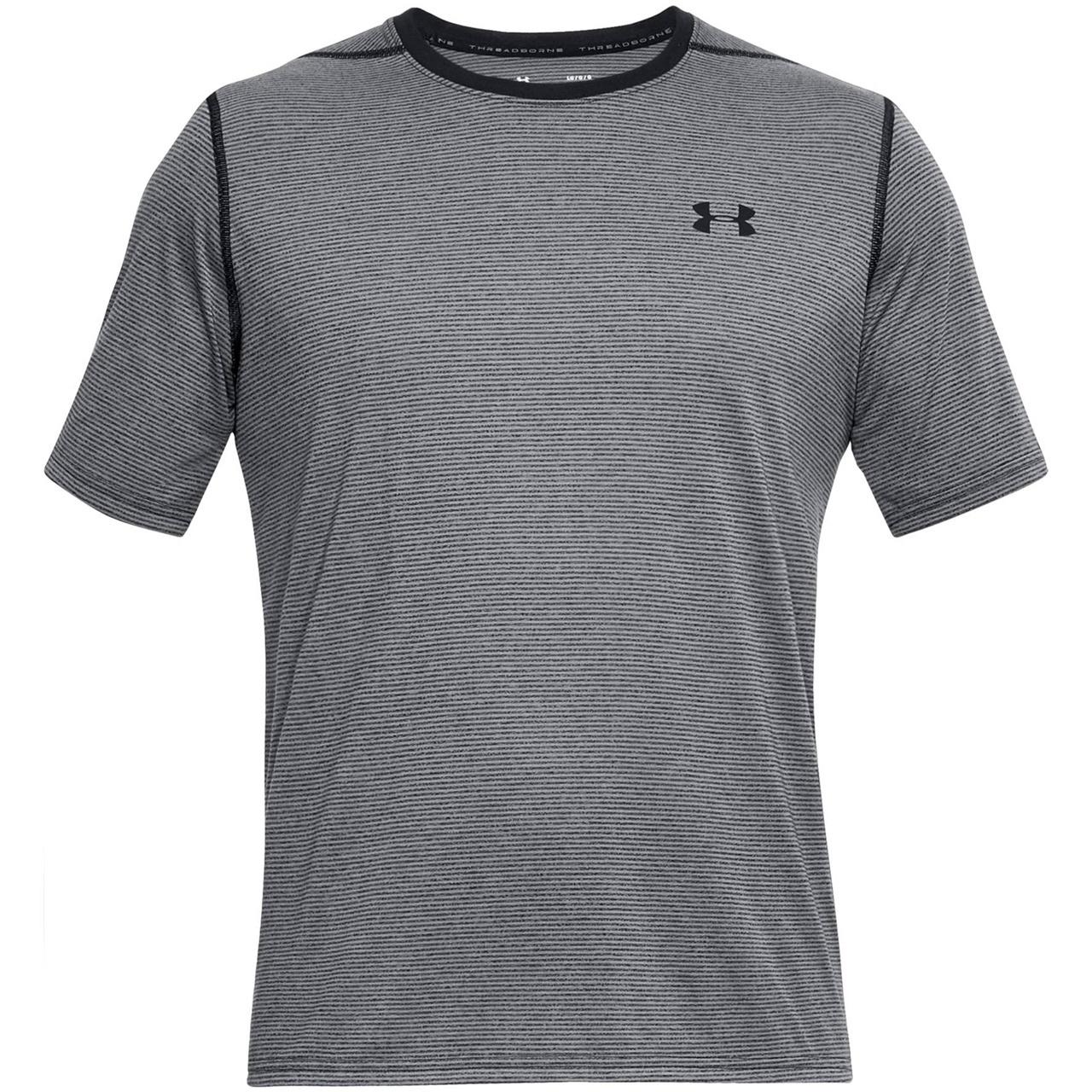 تی شرت مردانه آندر آرمور مدل THREADBORNE STRIPE SS