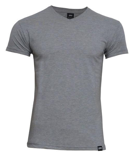 تی شرت مردانه 1991 اس دبلیو مدل V Gray