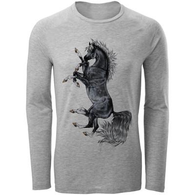 تصویر تیشرت آستین بلند مردانه مدل Horse کد A36