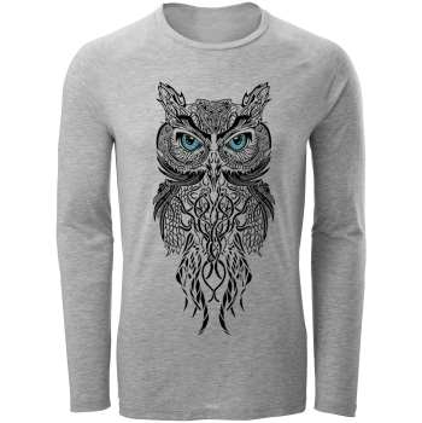 تیشرت آستین بلند مردانه مدل owl کد A32