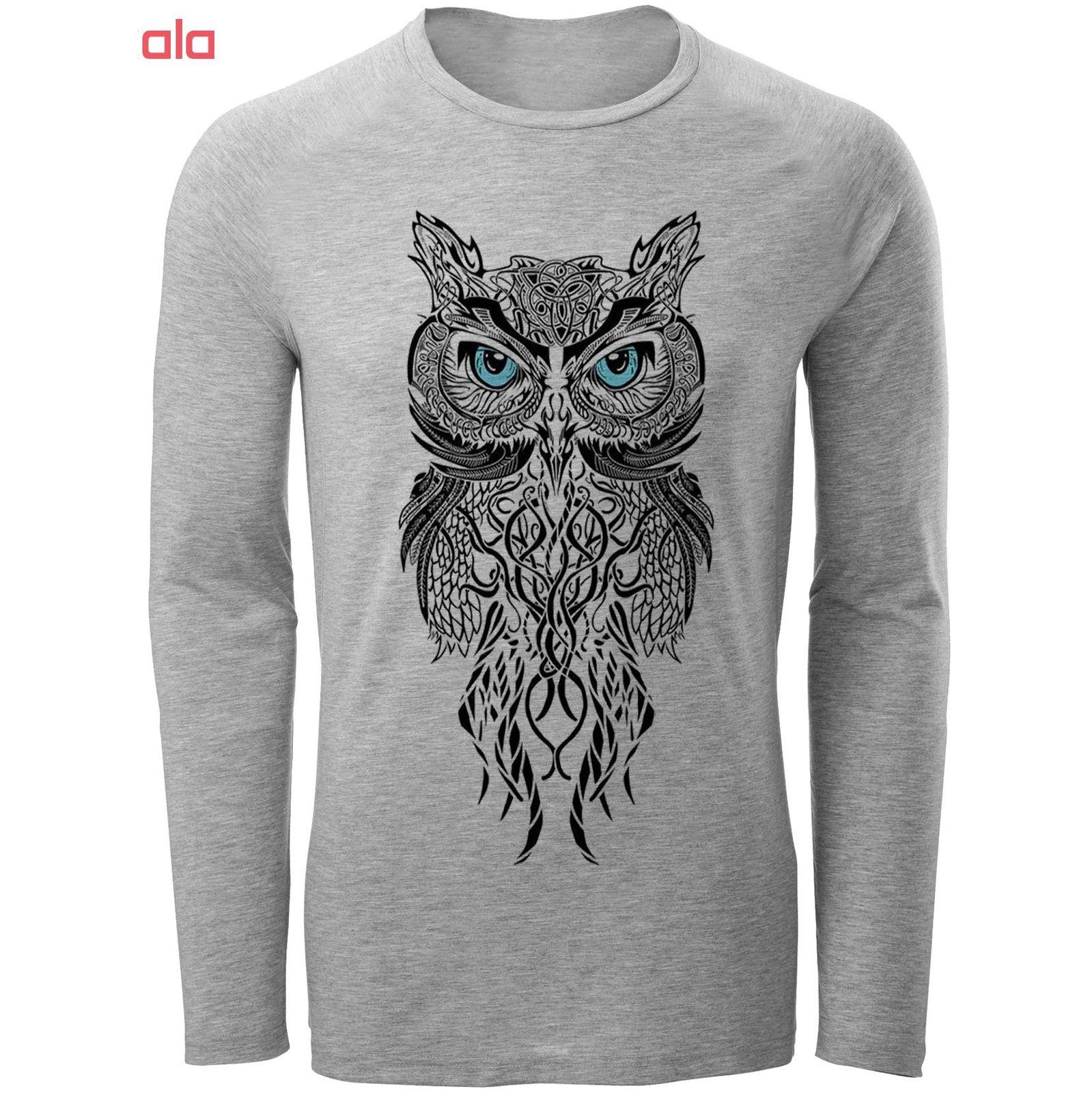 تیشرت آستین بلند مردانه مدل owl کد A32 main 1 1