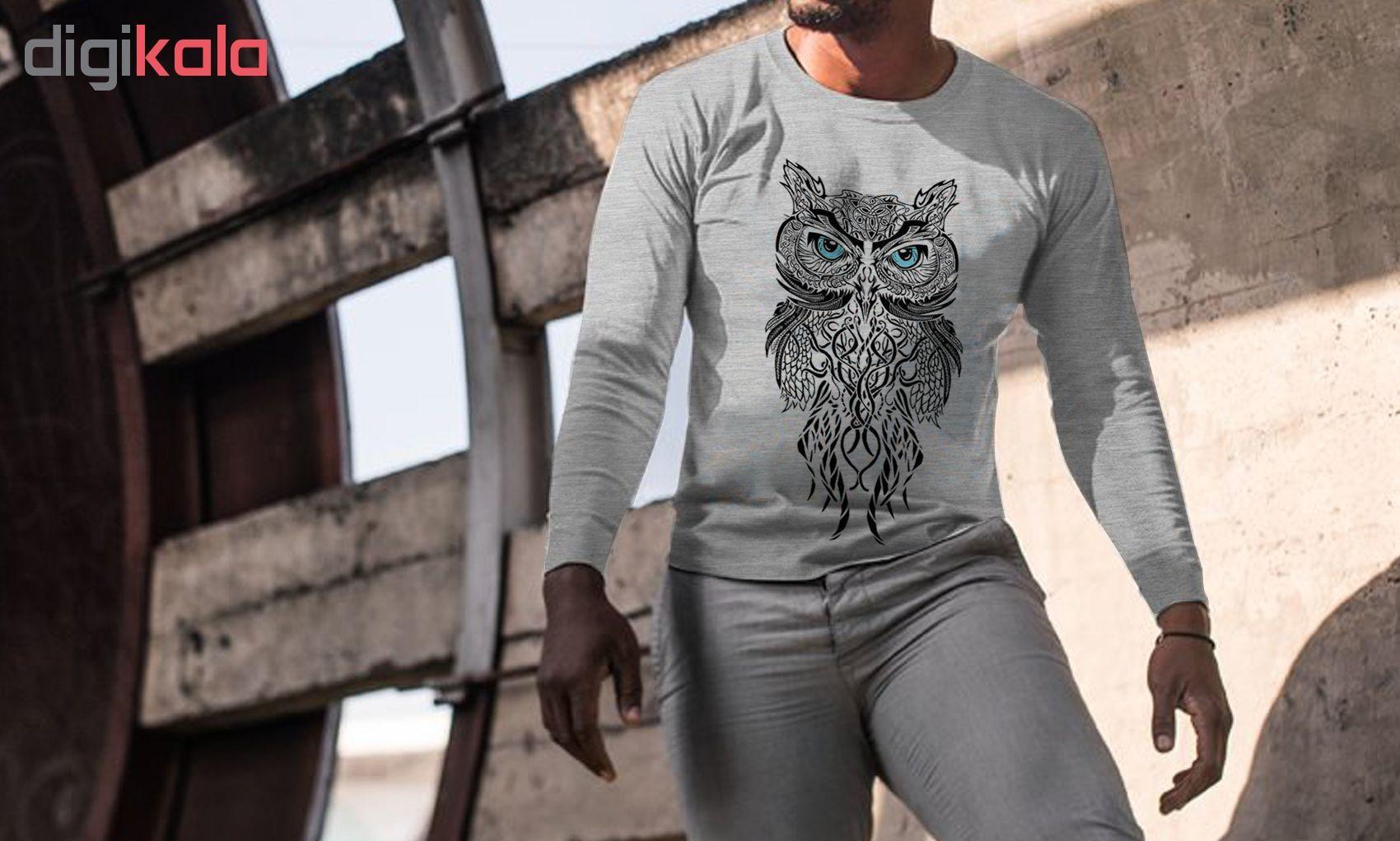 تیشرت آستین بلند مردانه مدل owl کد A32 main 1 2