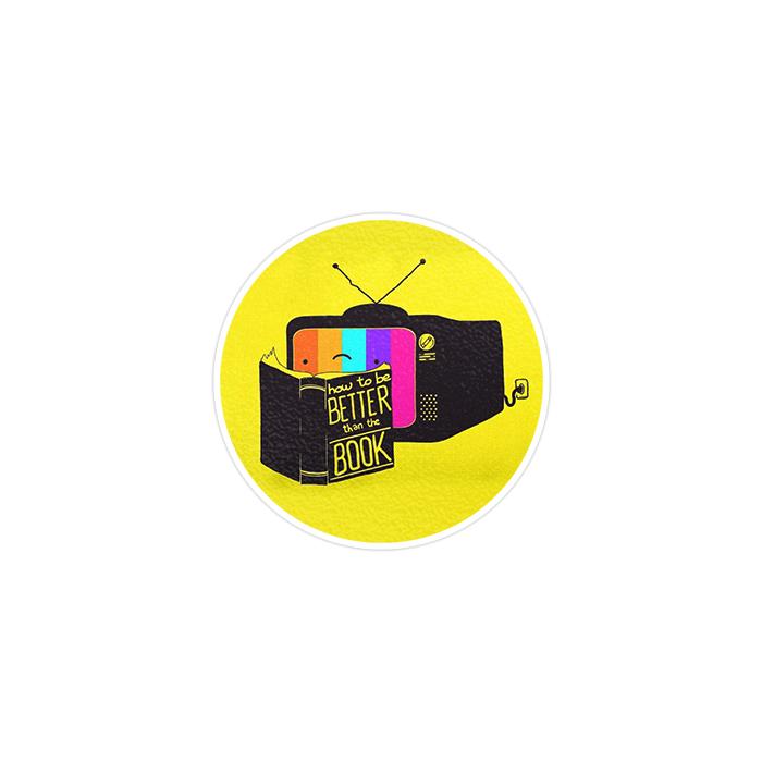 استیکر لپ تاپ ماسا دیزاین طرح TV مدل STK823