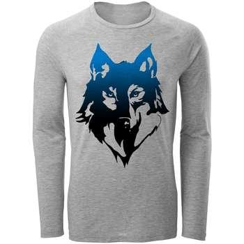 تیشرت آستین بلند مردانه مدل wolf کد A40
