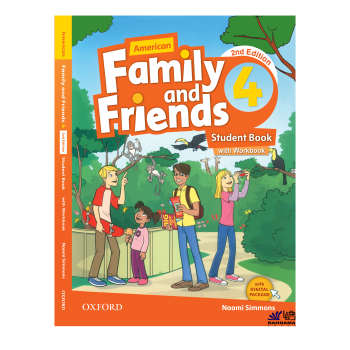 کتاب AMERICAN FAMILY AND FRIENDS 4 اثر NAOMI SIMMONS انتشارات رهنما