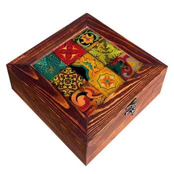 جعبه هدیه چوبی کد CG15