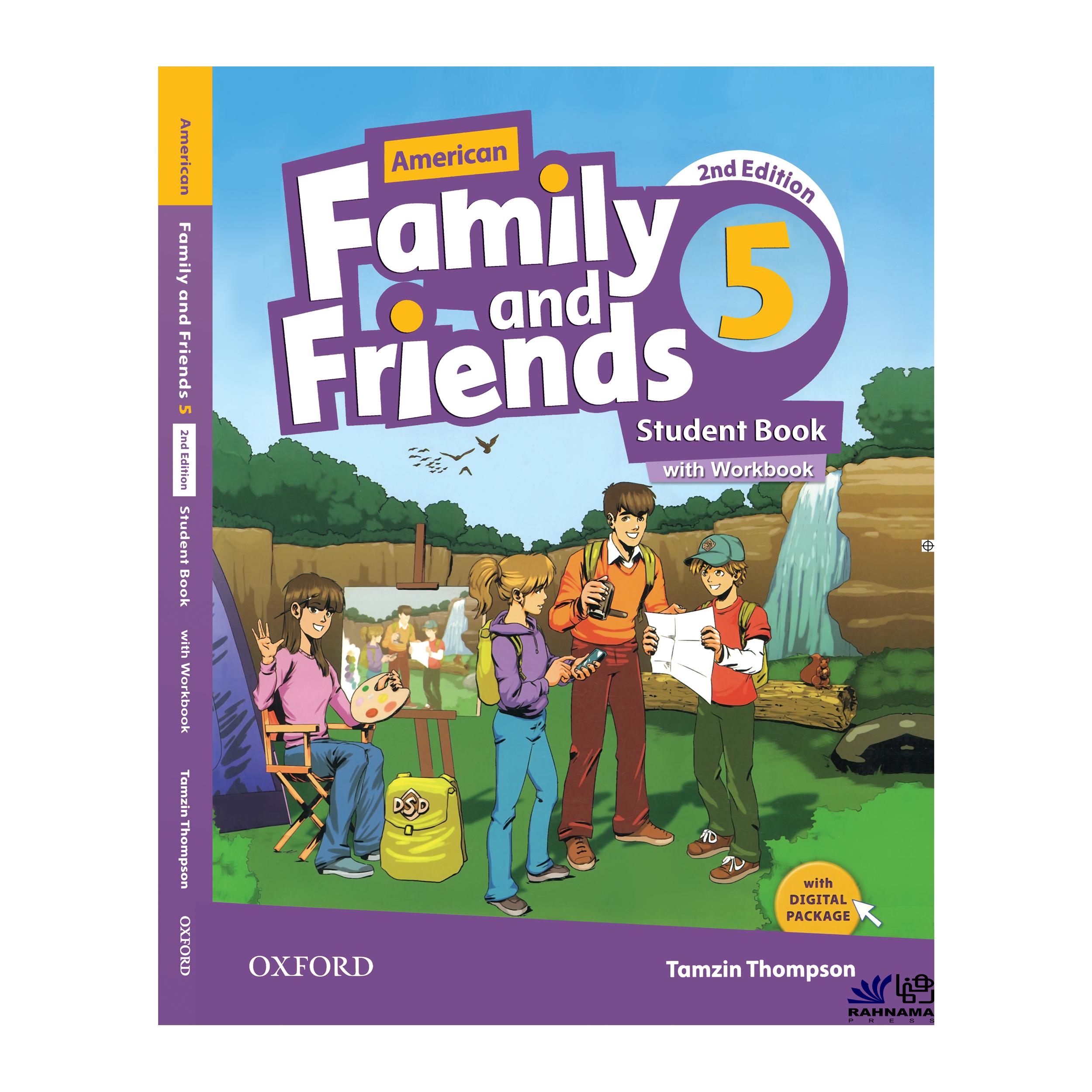 کتاب AMERICAN FAMILY AND FRIENDS 5 اثر TAMZIN THOMPSON  انتشارات رهنما