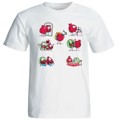 تصویر تی شرت آستین کوتاه مردانه طرح یلدا  کد 1571