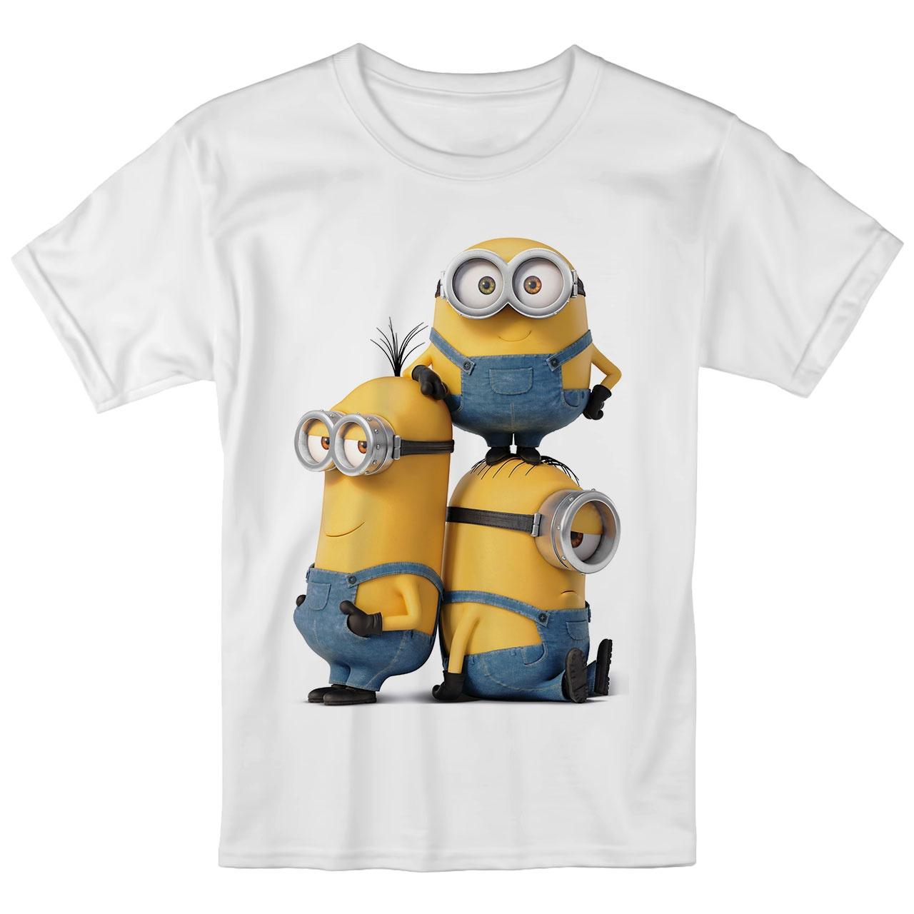تصویر تی شرت بچگانه انارچاپ طرح مینیون ها مدل T09030