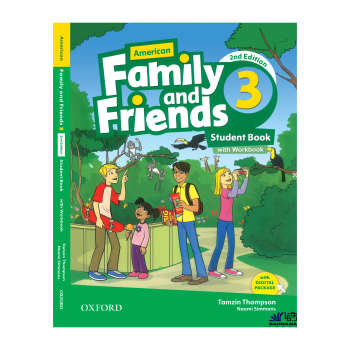 کتاب AMERICAN FAMILY AND FRIENDS 3 اثر  TAMZIN THOMPSON AND NAOMI SIMMONS   انتشارات رهنما