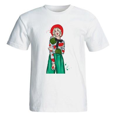 تی شرت آستین کوتاه زنانه مدل یلدا کد 4926