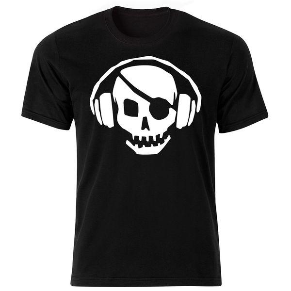 تی شرت آستین کوتاه مردانه طرح اسکلت کد ۱۸۰۰۱ BW